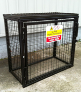 LPG Gas Cylinder Cage For 3 Cylinders Sized Up-to 19kg Black